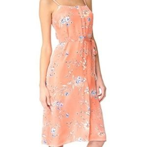 Ali & Jay NWT Peach Pink Floral Belted Midi Dress